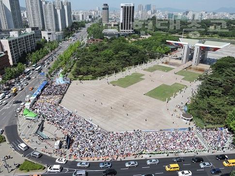 신천지 HWPL, 보여주기식 평화걷기대회 개최