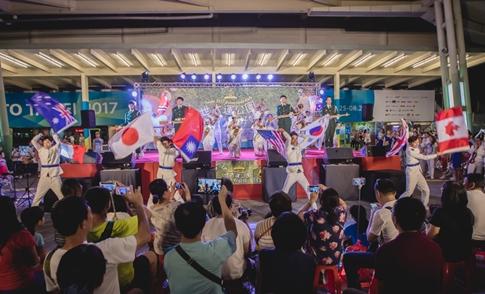 대만 유니버시아드대회에서 공연한 JMS