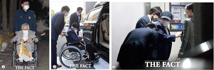 신천지 이만희, 휠체어 연막 의혹